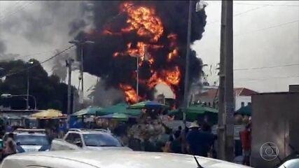 Incêndio destrói Monumento à Cidade de Salvador, cartão postal da capital baiana