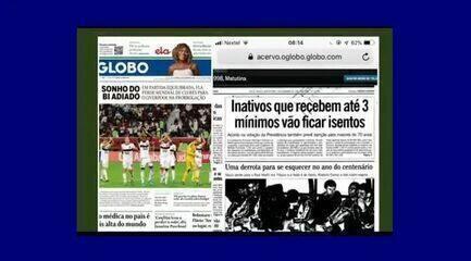 Comentaristas debatem diferenças nas capas dos jornais nas finais dos Mundiais de 1998 e 2019
