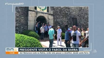 Presidente Bolsonaro visita variados pontos da capital baiano nesta segunda-feira