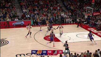 Melhores Momentos: Phoenix Suns 122 x 116 Portand Trail Blazers pela NBA
