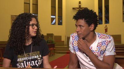 Jovem missionária da comunidade Kadosh explica o que pensa sobre a fé
