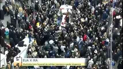 Dezenas de milhares acompanham funeral de general iraniano morto em ataque dos EUA