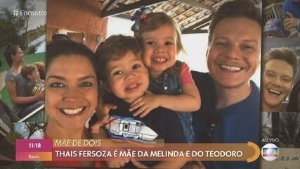 Thaís Fersoza fala sobre a diversão com os filhos Melinda e Teodoro