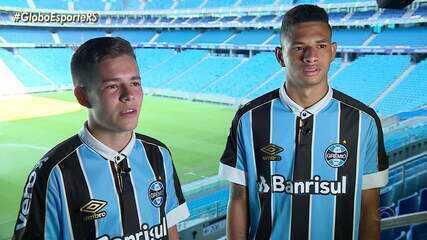 Diego Rosa e Pedro Lucas, do sub-17 do Grêmio, são promessas para o clube em 2020