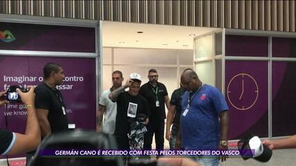 """Música """"Uh, tá maneiro, Germán Cano é artilheiro"""" foi cantada quando Cano chegou ao Vasco, em 6 de janeiro de 2020"""