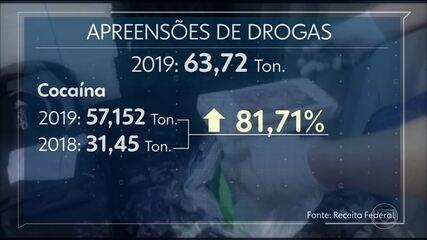 Receita bate recorde de apreensões de drogas em 2019