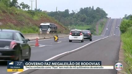 Governo faz megaleilão de rodovias