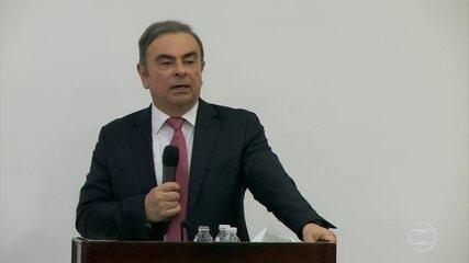 Carlos Ghosn fala pela primeira vez após fuga para o Líbano