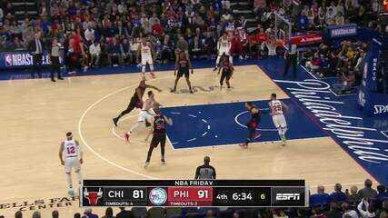 Melhores momentos: Philadelphia 76ers 100 x 89 Chicago Bulls pela NBA