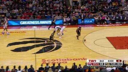 Melhores momentos: Toronto Raptors 140 x 111 Washington Wizards pela NBA