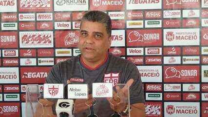 Técnico do CRB, Marcelo Cabo fala sobre batedores de falta