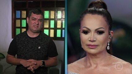 Amigo manda recado para Solange Almeida e ela lembra período da gravidez