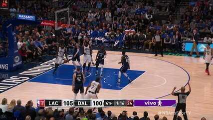 Melhores momentos de Dallas Mavericks 107 x 110 Los Angeles Clippers pela NBA