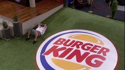 Babu deixa a Prova de Imunidade Burge King