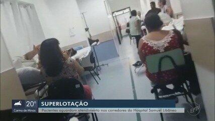 Pacientes aguardam dias por leitos no Hospital Samuel Libânio, em Pouso Alegre