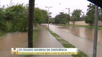 Volume de água em Belo Horizonte é o maior em mais de 100 anos