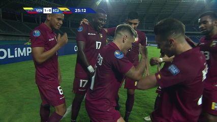 O gol de Venezuela 1 x 0 Equador pelo Pré-olímpico de futebol sub-23