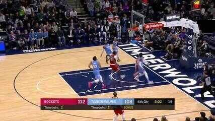 Melhores momentos de Houston Rockets 131 x 124 Minnesota Timberwolves pela NBA