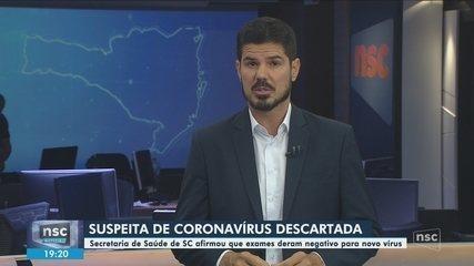 DIVE-SC descarta casos de coronavírus no estado