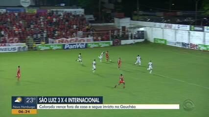 Inter vence São Luiz em uma partida com sete gols