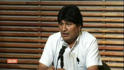 Evo Morales autoriza seu advogado a registrá-lo como candidato ao Congresso