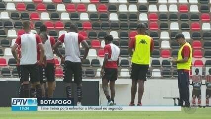 Botafogo-SP se prepara para enfrentar o Mirassol