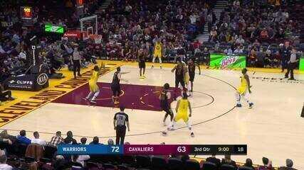 Melhores momentos de Golden State Warriors 131 x 112 Cleveland Cavaliers pela NBA