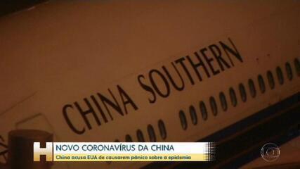 China acusa EUA de espalhar pânico com sua reação ao coronavírus