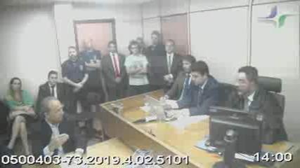 Ex-governadores Sérgio Cabral e Pezão falam ao juiz Marcelo Brêtas