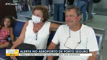 Aeroporto de Porto Seguro adota medidas para prevenir o coronavírus
