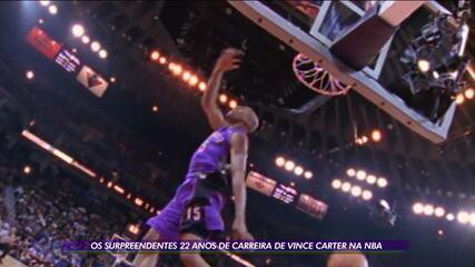 Os surpreendentes 22 anos de carreira de Vince Carter na NBA