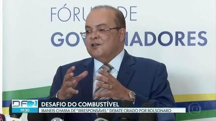 """Ibaneis chama de """"irresponsável"""" debate criado por Bolsonaro sobre combustíveis"""