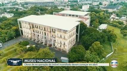 Obras de reconstrução do Museu Nacional devem começar em abril