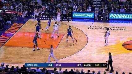 Melhores momentos: Phoenix Suns 112 x 106 Golden State Warriors, pela NBA