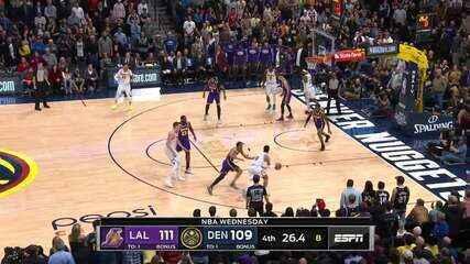 Melhores momentos: Denver Nuggets 116 x 120 Los Angeles Lakers, pela NBA
