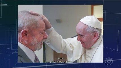Ex-presidente Lula se encontrou com papa Francisco.
