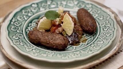 Incrível kibe vegetariano com salada de ratatouille