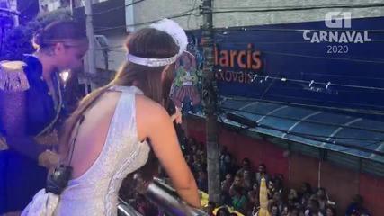 Claudia Leitte canta com Luma Sobral no circuito do Campo Grande
