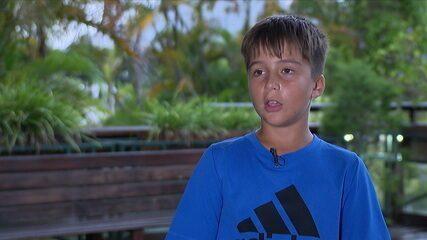 Jovem de 11 anos, Leonardo Stock, é convidado para treinar nos Estados Unidos na IMG