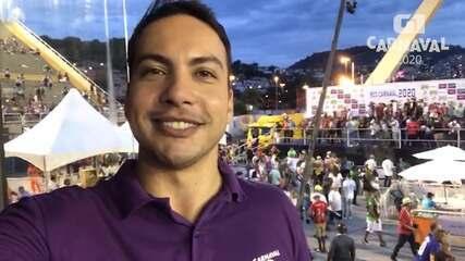Diego Haidar apresenta o Desfile da Campeãs no sábado, em transmissão ao vivo no G1