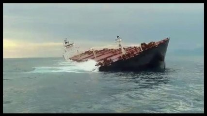 Marinha e Ibama monitoram navio carregado de minério de ferro