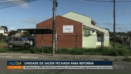 UBS Abrahão Federmann, em Ponta Grossa, fecha para reforma