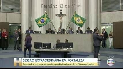 Deputados do Ceará analisam proposta que proíbe anistia a policiais amotinados