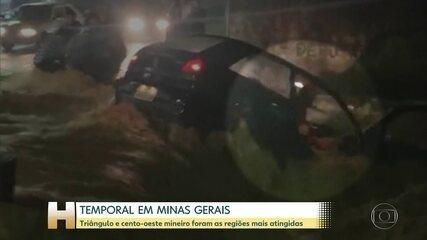 Chuva forte volta à Minas Gerais e provoca estragos