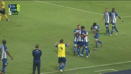 Gol de Rodrigo Pimpão! Aos 4', Diego Renan lança e Pimpão amplia o marcador contra o Coruripe