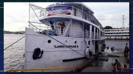 Barco de passageiros afunda no Amapá e deixa três mortos
