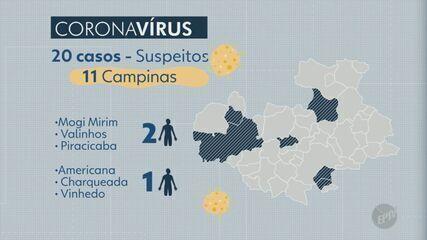 Estado investiga 17 casos suspeitos de coronavírus na região; 11 são de Campinas