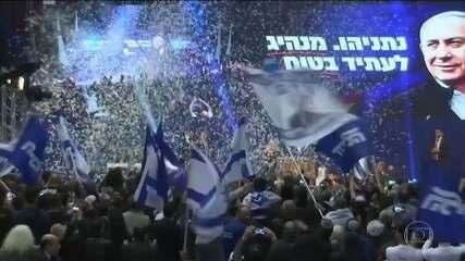 Primeiro-ministro de Israel se declara vitorioso na eleição parlamentar antes do resultado