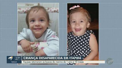 Polícia Civil de Itapira investiga desaparecimento de menina de 1 ano