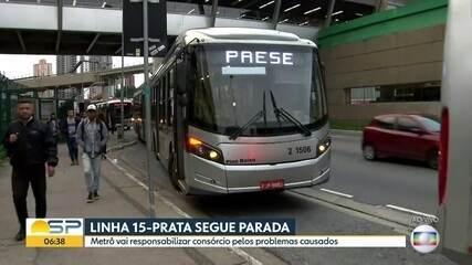 Metrô vai responsabilizar consórcio por problemas causados na Linha 15-Prata